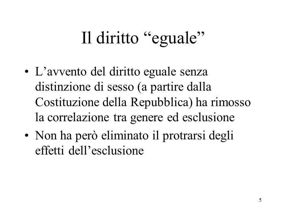 Il diritto eguale