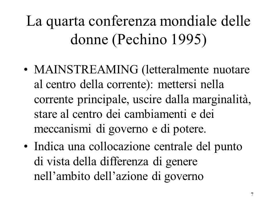 La quarta conferenza mondiale delle donne (Pechino 1995)