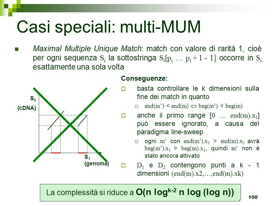 Casi speciali: multi-MUM