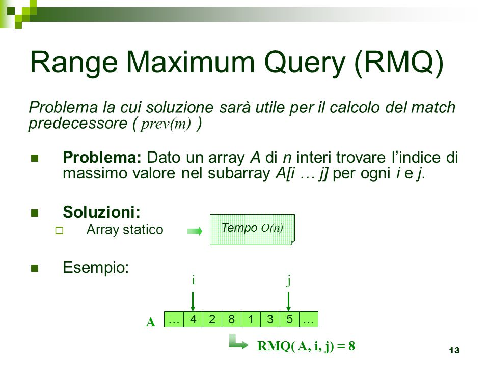 Range Maximum Query (RMQ)