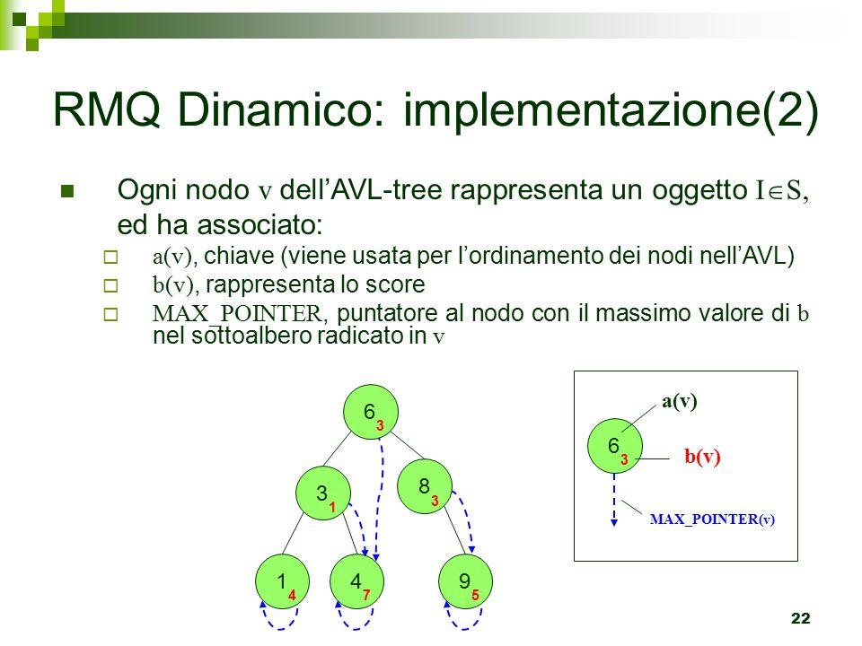 RMQ Dinamico: implementazione(2)