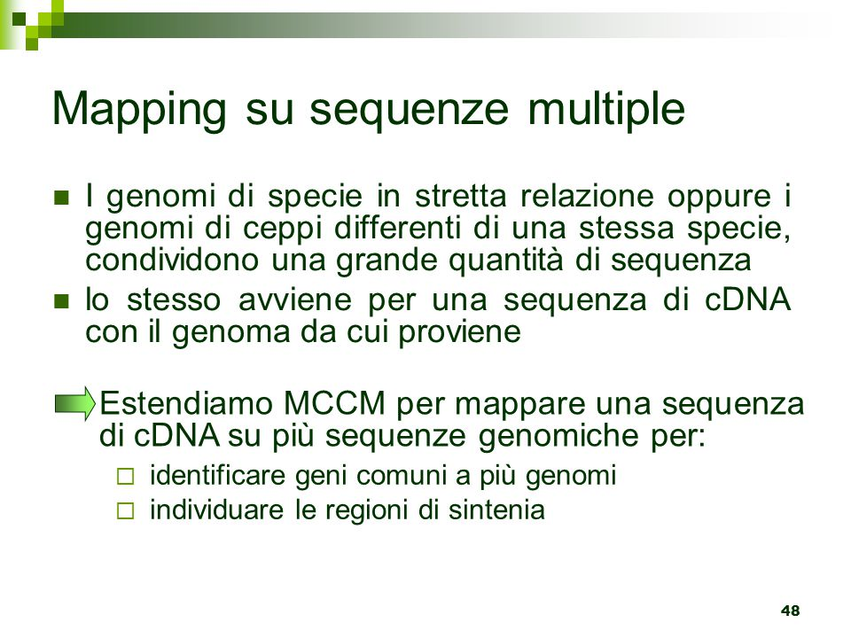 Mapping su sequenze multiple