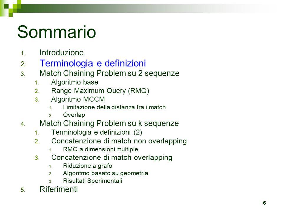 Sommario Terminologia e definizioni Introduzione