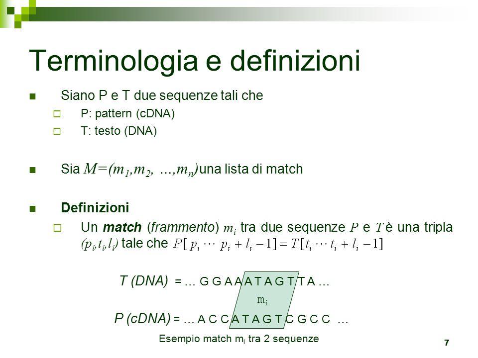 Terminologia e definizioni