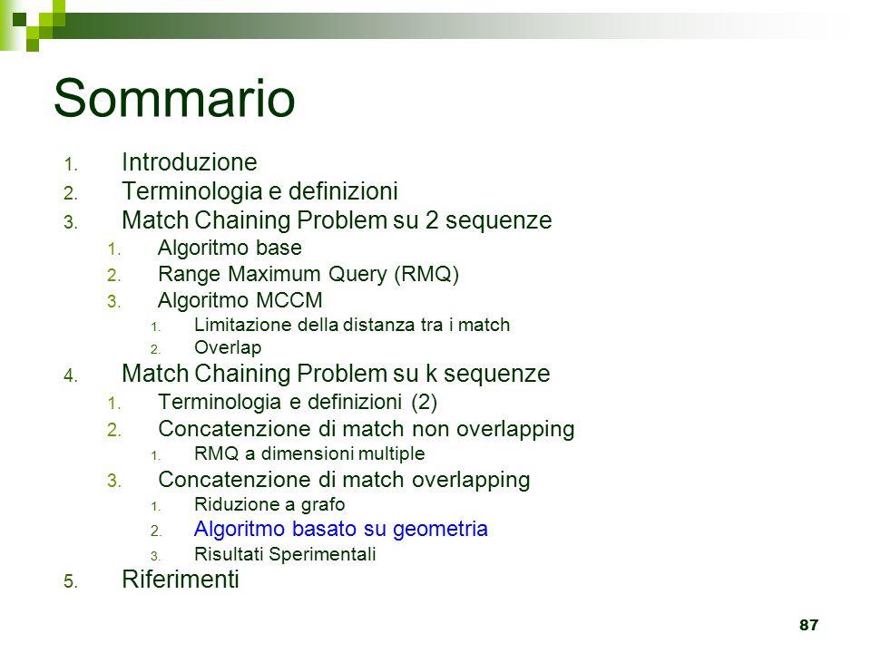 Sommario Introduzione Terminologia e definizioni