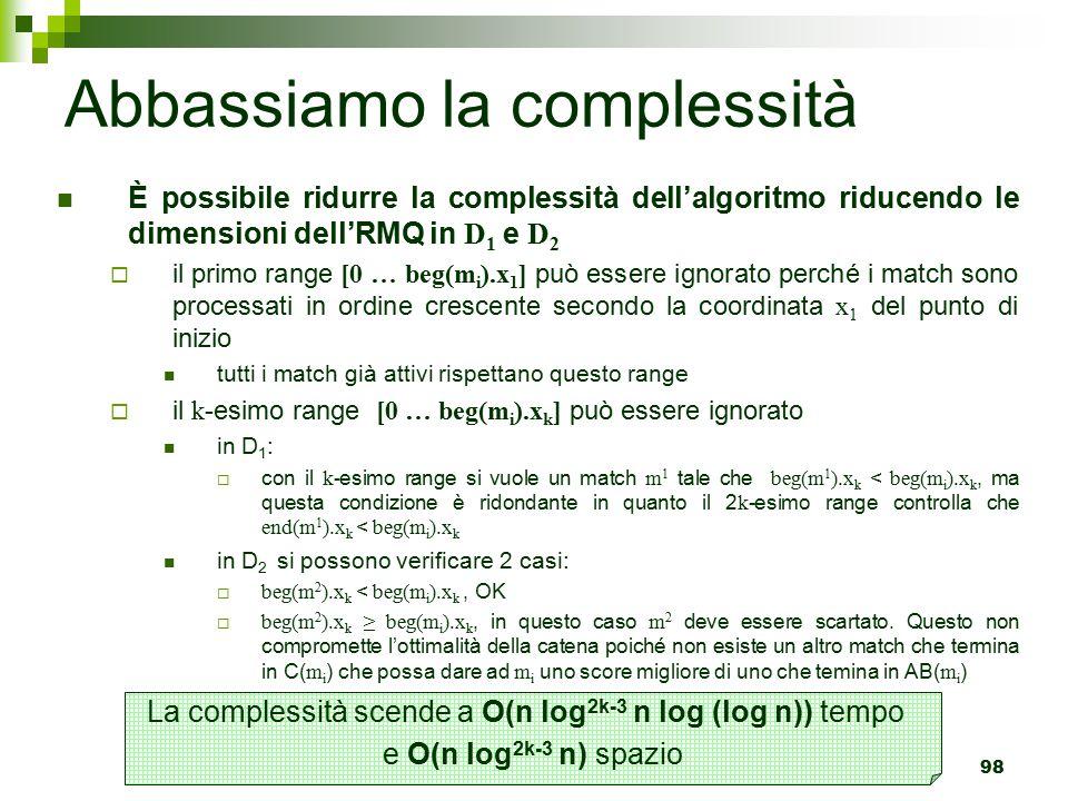 Abbassiamo la complessità