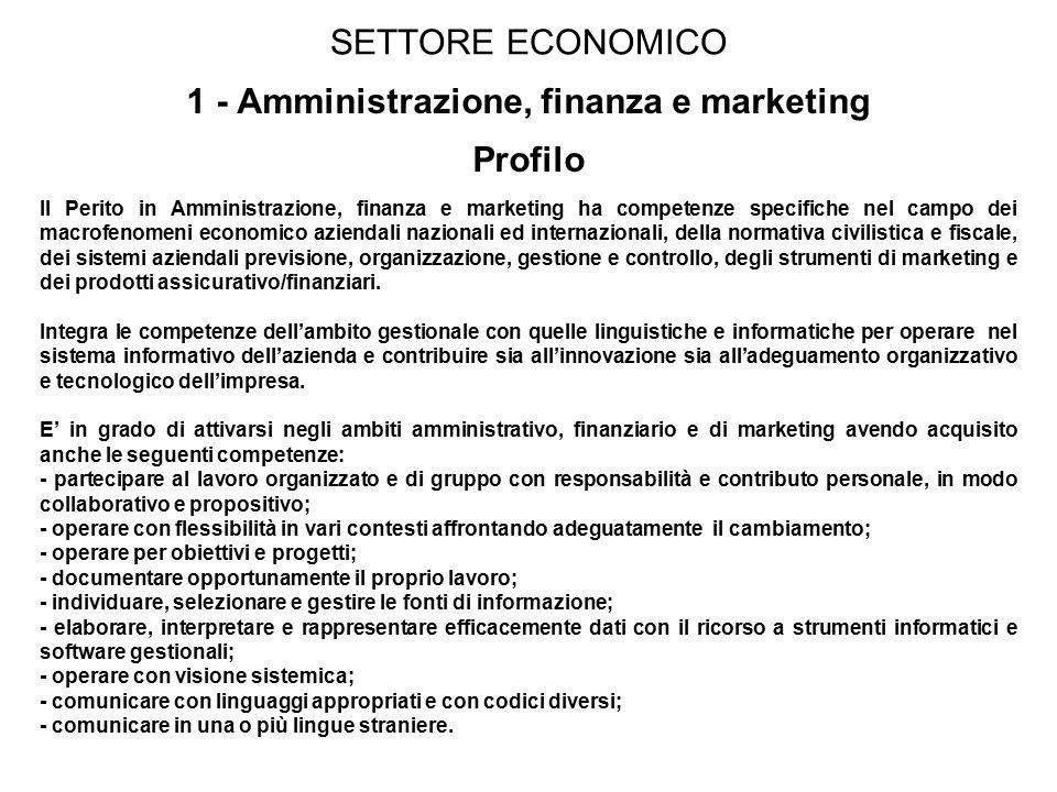 1 - Amministrazione, finanza e marketing