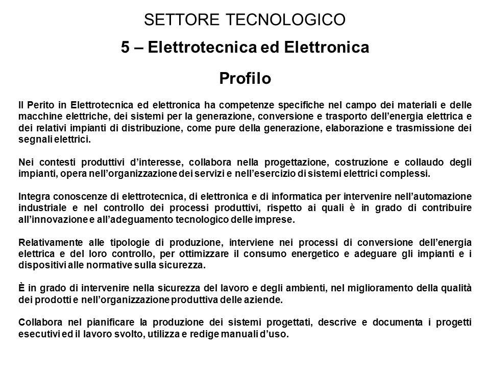 5 – Elettrotecnica ed Elettronica