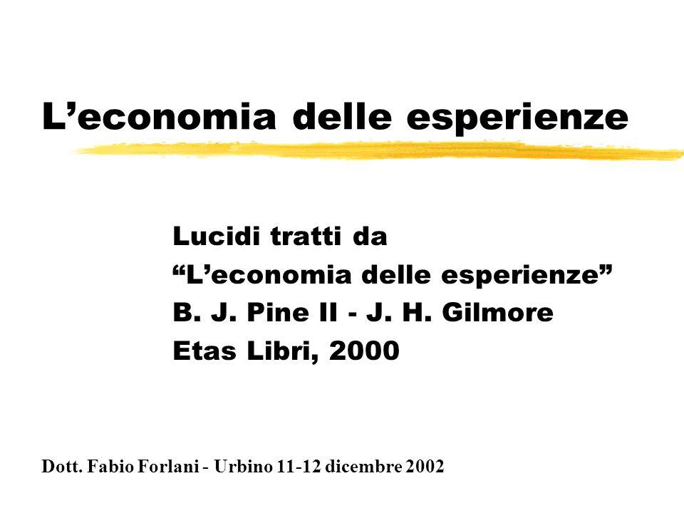 L'economia delle esperienze