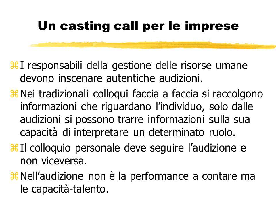 Un casting call per le imprese