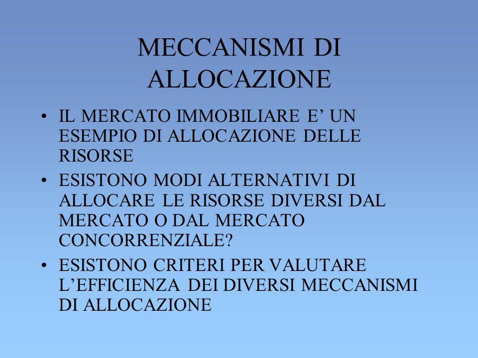 MECCANISMI DI ALLOCAZIONE