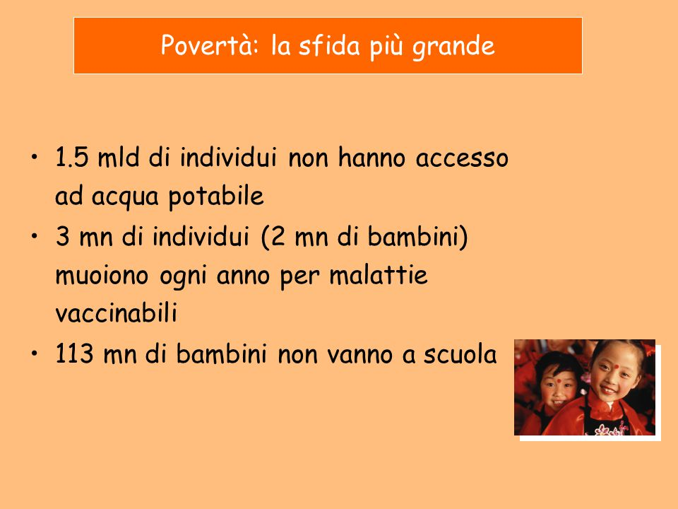 Povertà: la sfida più grande