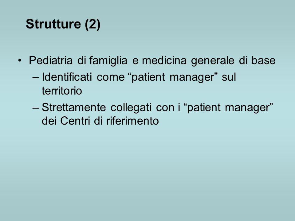 Strutture (2) Pediatria di famiglia e medicina generale di base