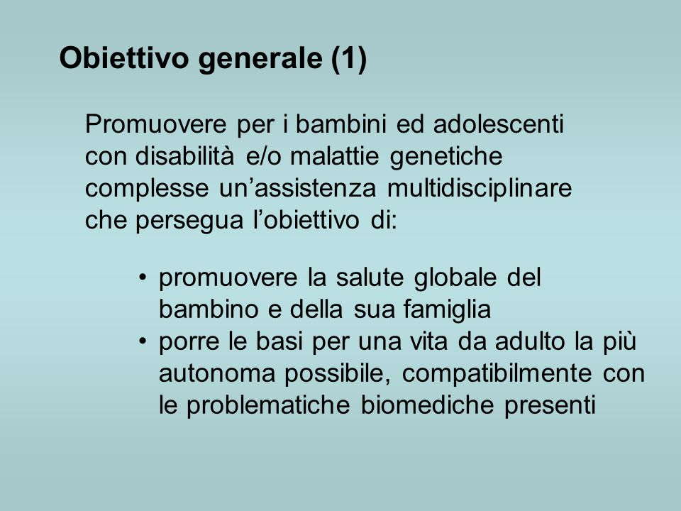 Obiettivo generale (1)