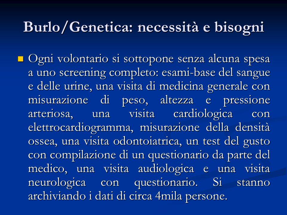 Burlo/Genetica: necessità e bisogni