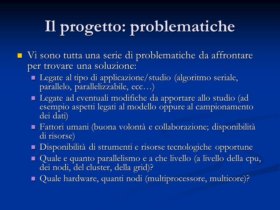 Il progetto: problematiche