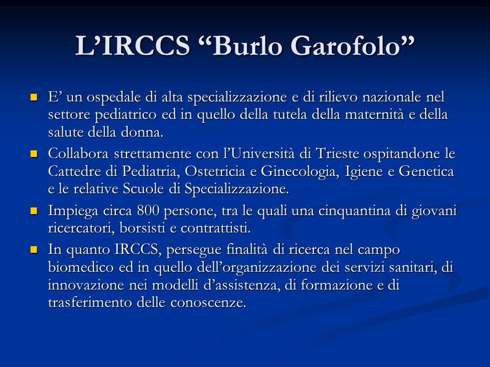 L'IRCCS Burlo Garofolo