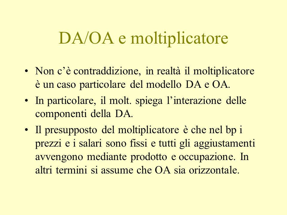 DA/OA e moltiplicatore