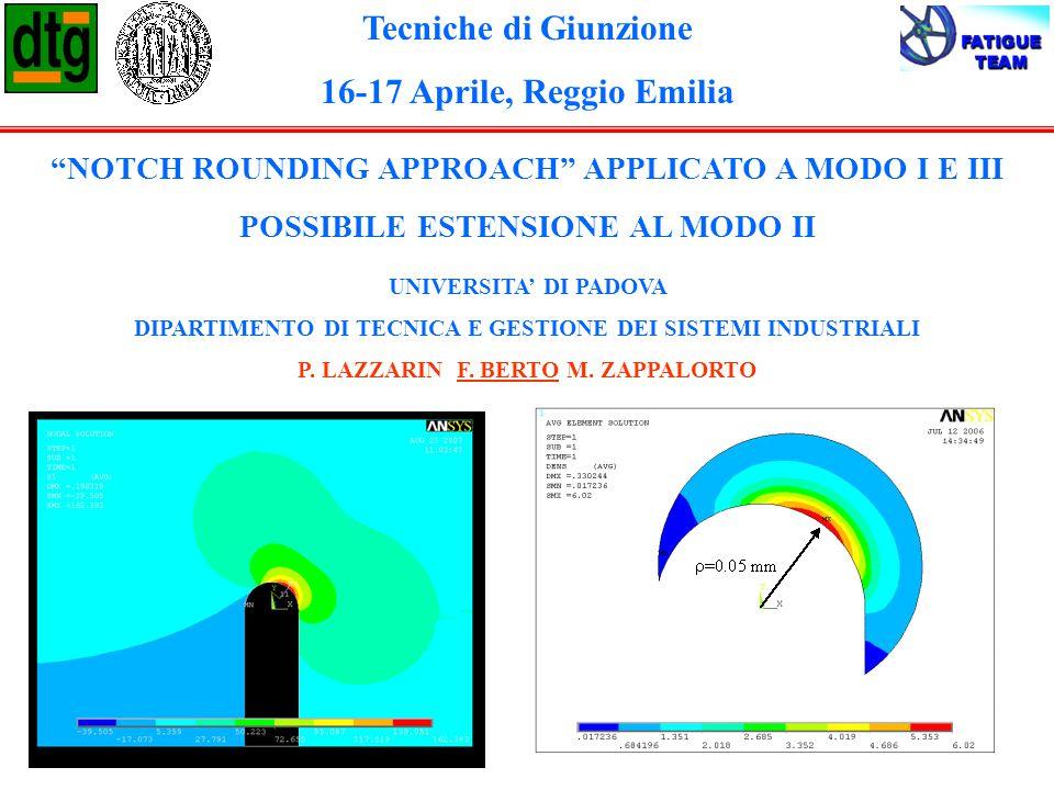 Tecniche di Giunzione 16-17 Aprile, Reggio Emilia