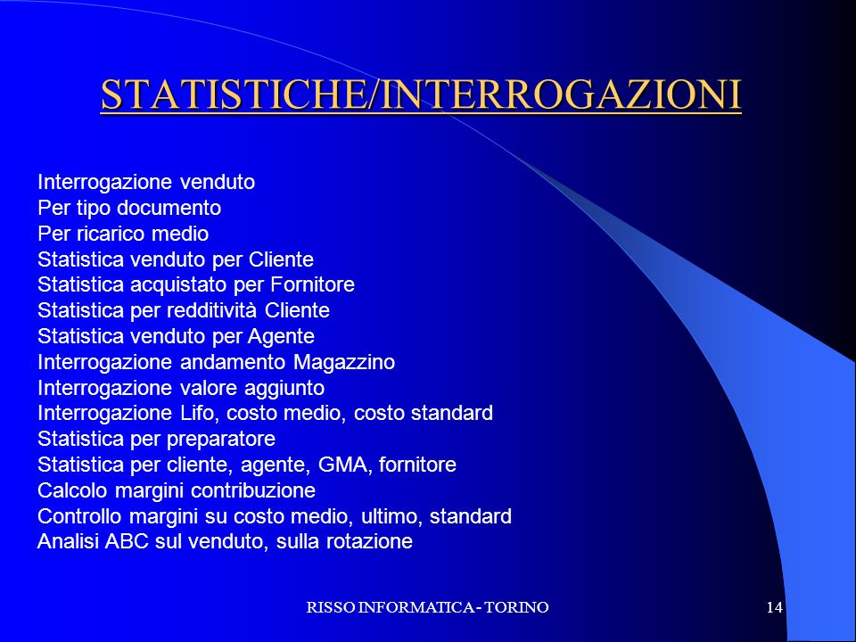 STATISTICHE/INTERROGAZIONI