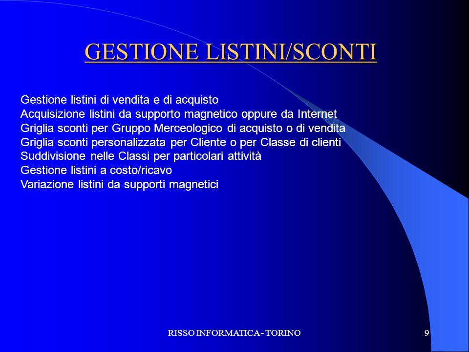 GESTIONE LISTINI/SCONTI