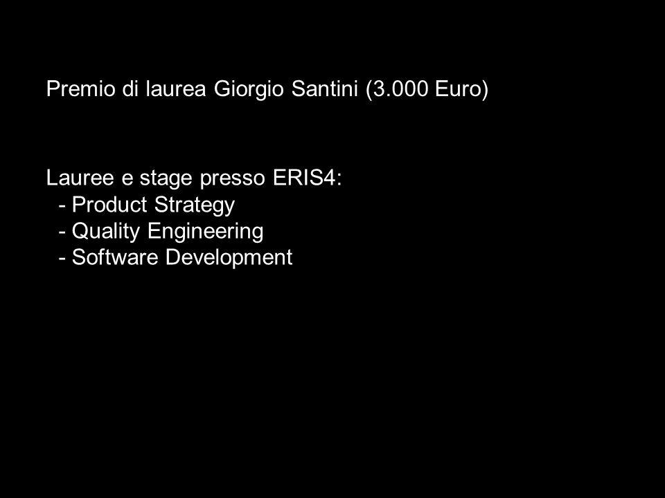 Premio di laurea Giorgio Santini (3.000 Euro)