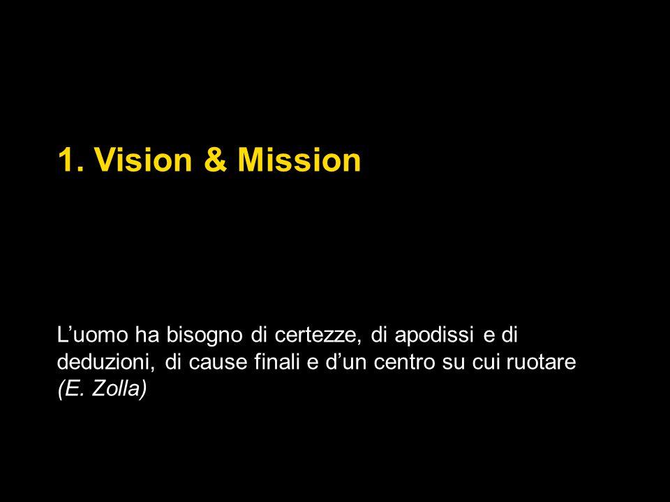 1. Vision & Mission Commento Zolla direzioni e perché.
