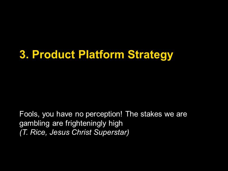 3. Product Platform Strategy