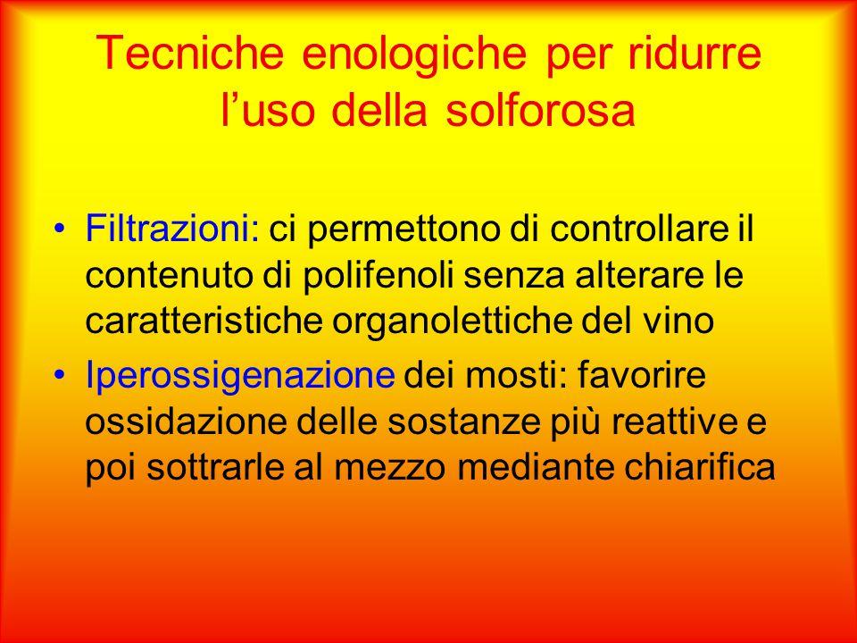 Tecniche enologiche per ridurre l'uso della solforosa