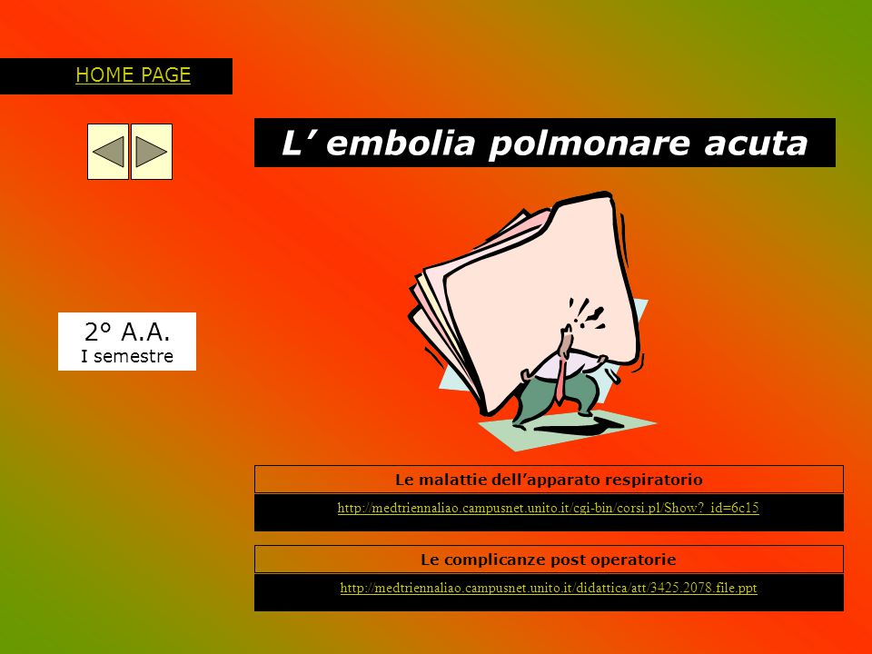 L' embolia polmonare acuta