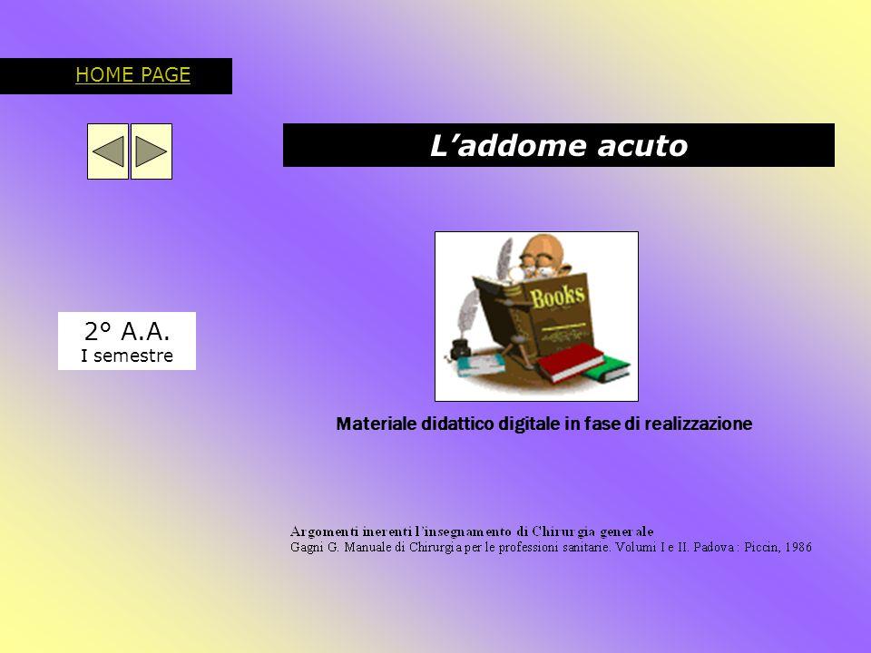 L'addome acuto 2° A.A. HOME PAGE