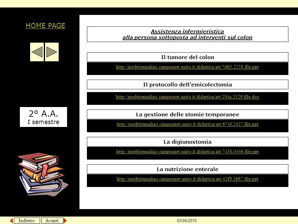 2° A.A. HOME PAGE I semestre