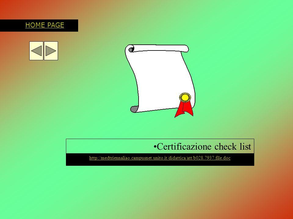 Certificazione check list