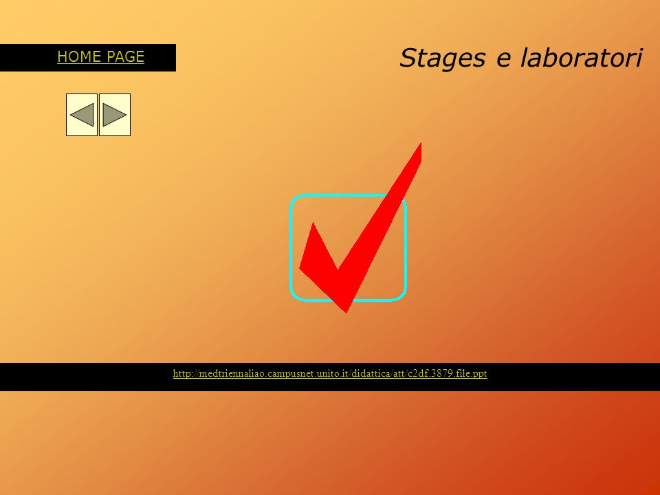 Stages e laboratori HOME PAGE