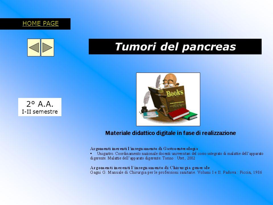 Tumori del pancreas 2° A.A. HOME PAGE