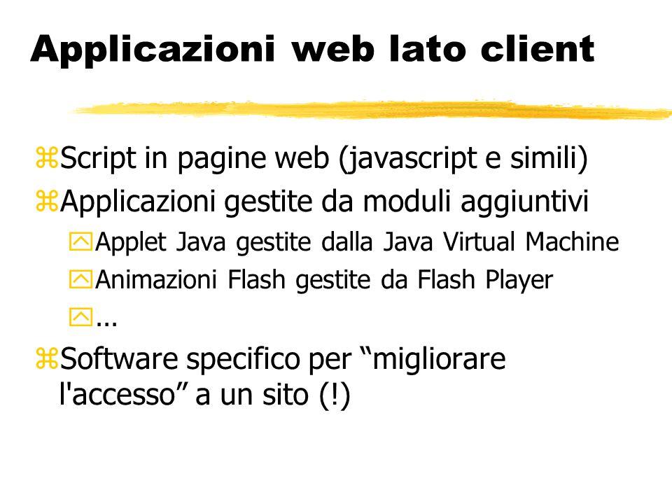 Applicazioni web lato client