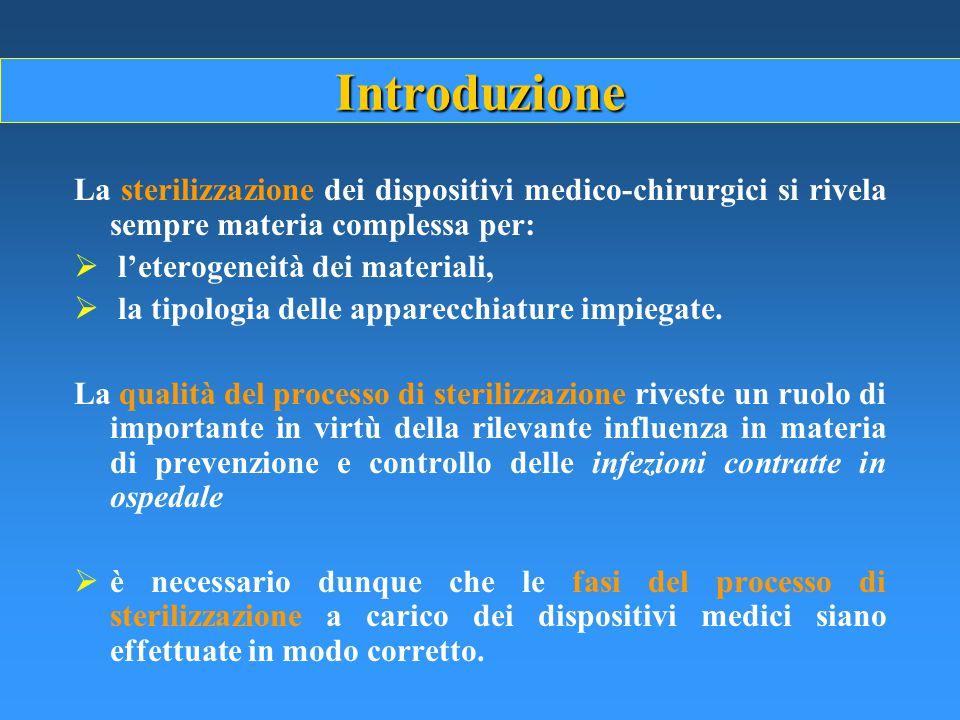 Introduzione La sterilizzazione dei dispositivi medico-chirurgici si rivela sempre materia complessa per: