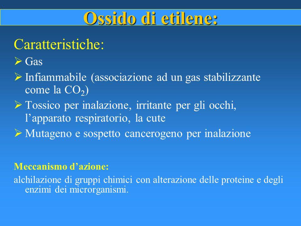 Ossido di etilene: Caratteristiche: Gas