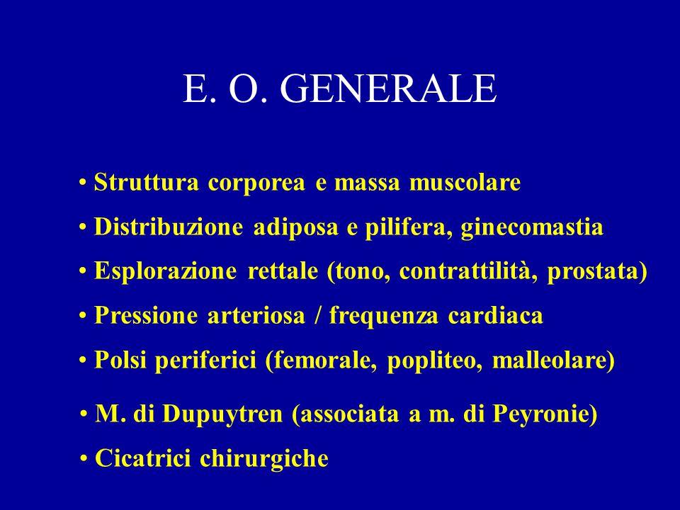 E. O. GENERALE Struttura corporea e massa muscolare