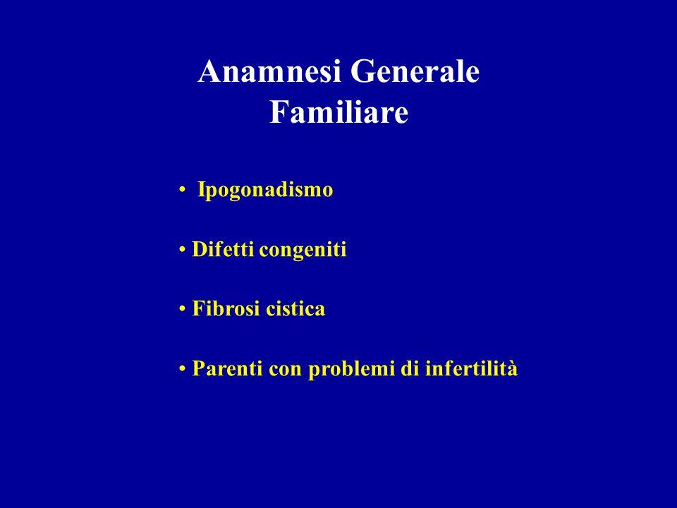 Anamnesi Generale Familiare