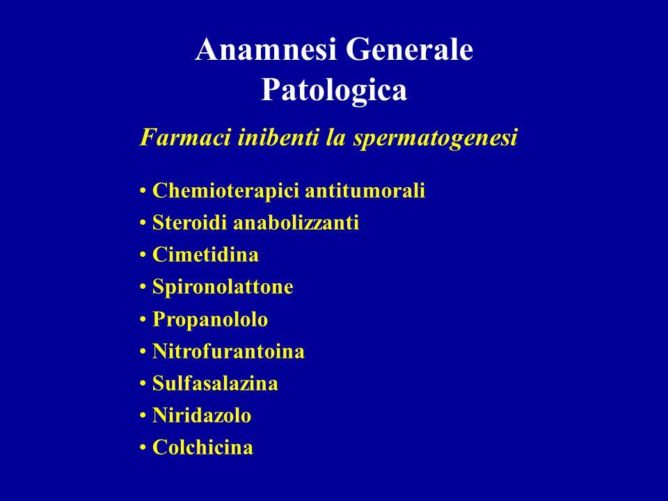 Anamnesi Generale Patologica