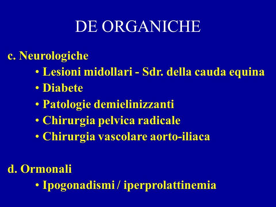 DE ORGANICHE c. Neurologiche