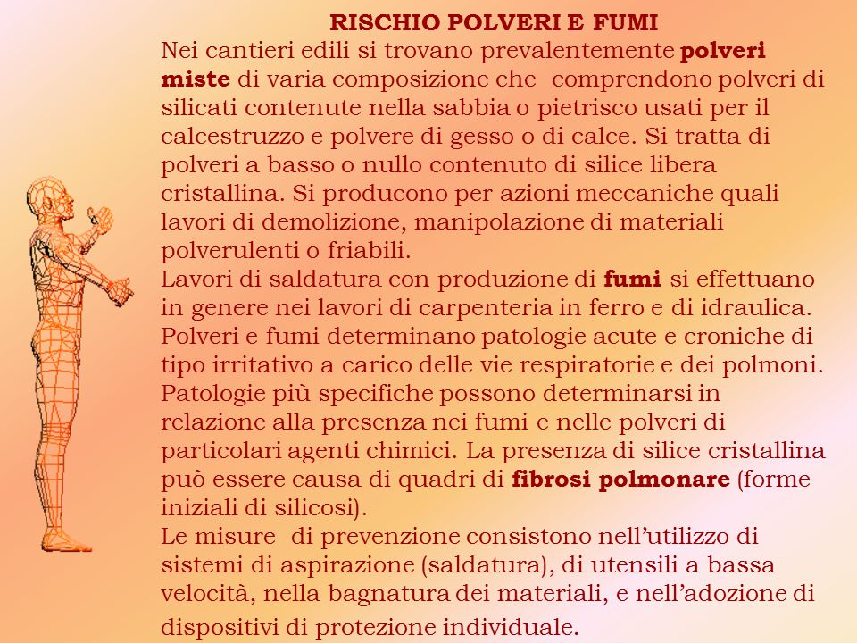 RISCHIO POLVERI E FUMI