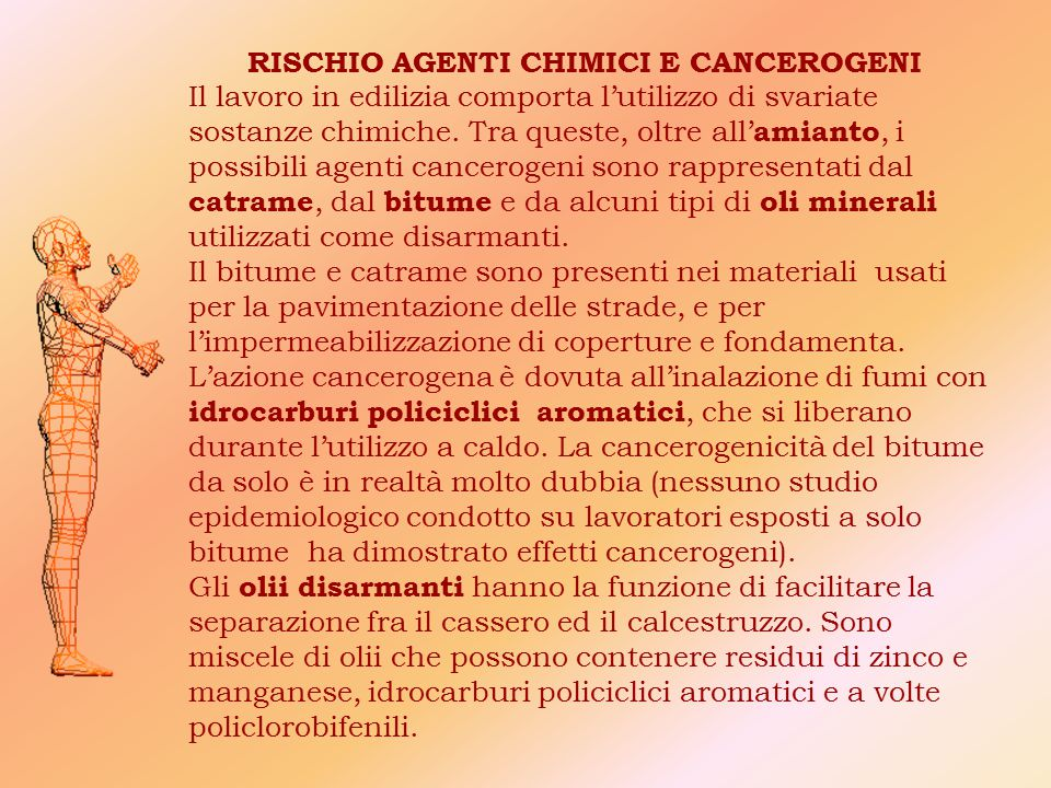 RISCHIO AGENTI CHIMICI E CANCEROGENI