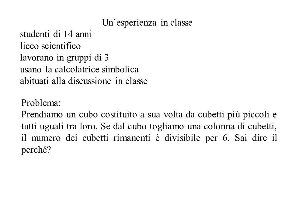 Un'esperienza in classe