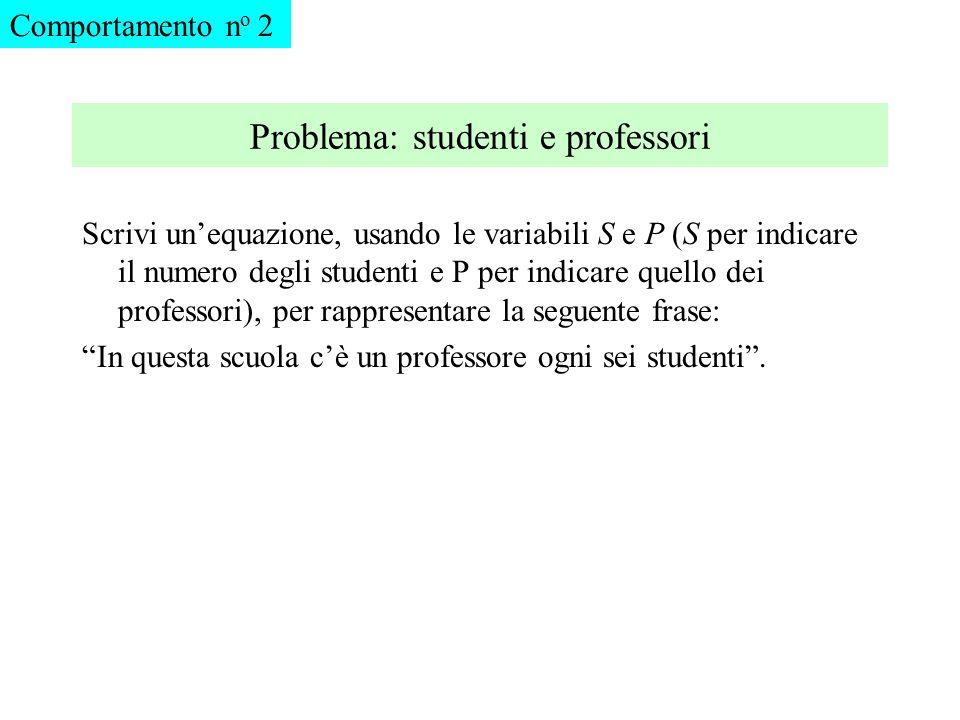 Problema: studenti e professori