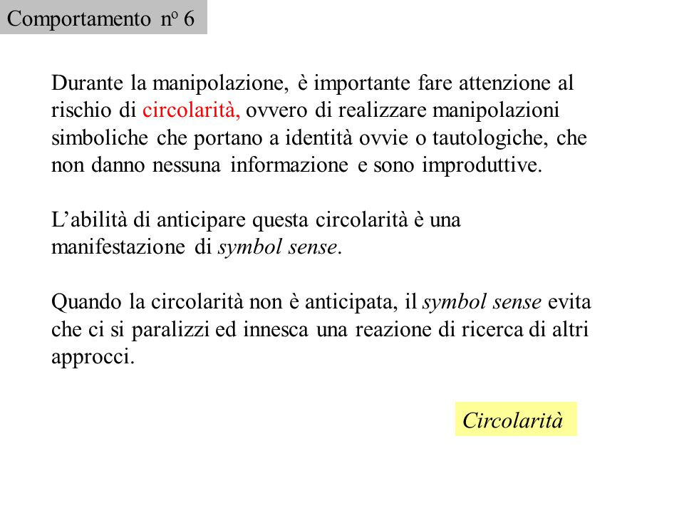 Comportamento no 6