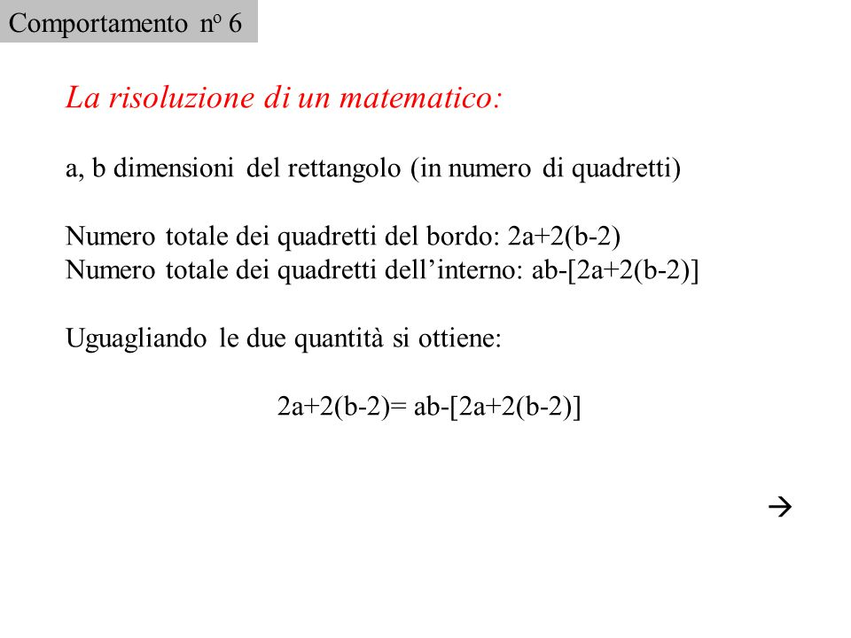 La risoluzione di un matematico: