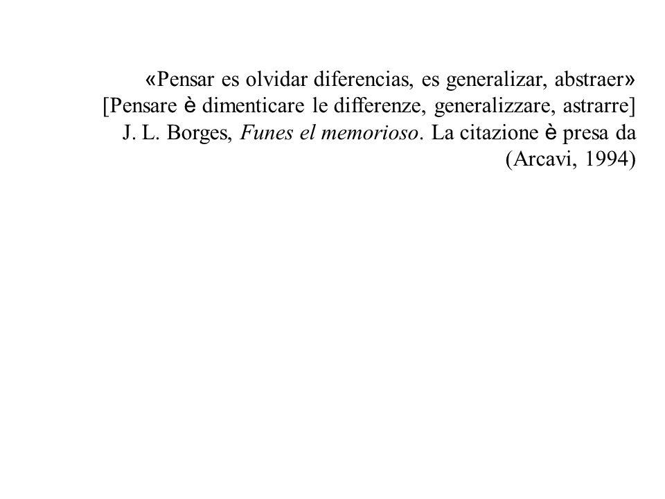 «Pensar es olvidar diferencias, es generalizar, abstraer»