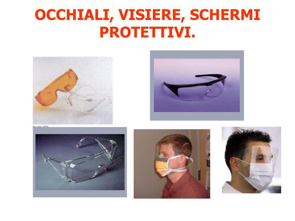 OCCHIALI, VISIERE, SCHERMI PROTETTIVI.